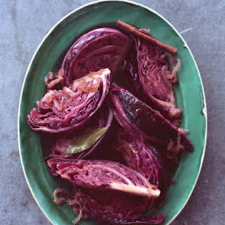 Braised Red Cabbage with Caramelized Onion and Cider.