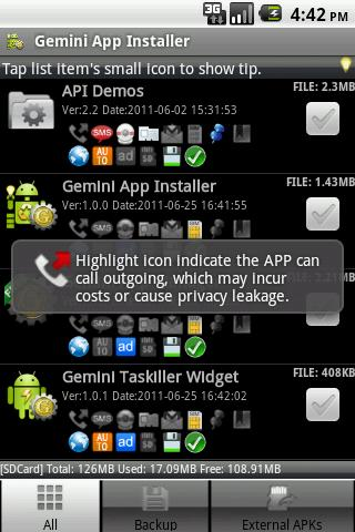 Gemini Installer & Clear - screenshot
