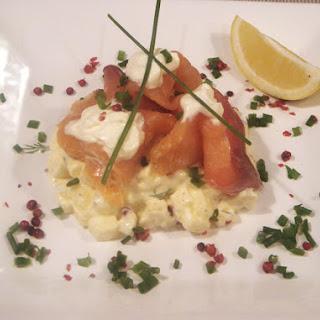 Apple Tartare with Smoked Salmon