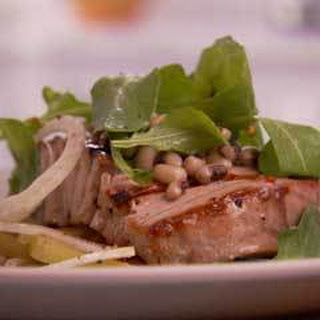 Grilled Tuna, Arugula, Fennel, Black-Eyed Peas and Tomato Salad Recipe