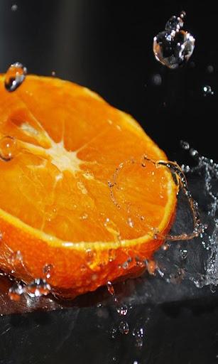Orange live wallpaper