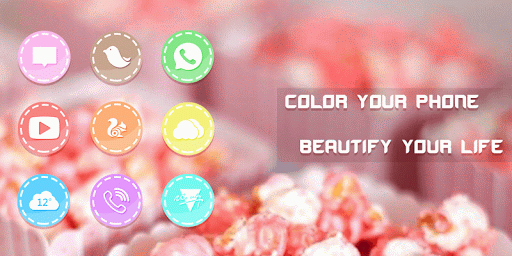 Pink Tasty Candies Icon Pack