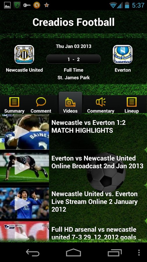 ESPN FC Live Score & Highlight - screenshot