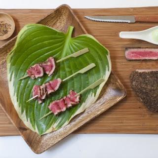 Peppered Tuna with Wasabi Mayo