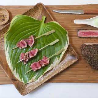 Peppered Tuna with Wasabi Mayo.