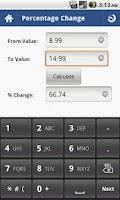 Screenshot of Percent Calculator