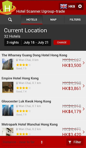 Hotel Scanner - Booking