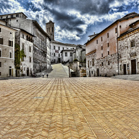 Tuscan Town by Mike Moss - City,  Street & Park  Neighborhoods