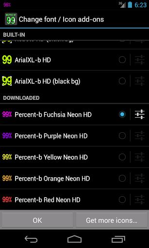 BN Pro Percent-b Neon HD Text