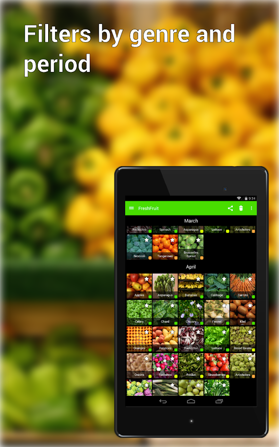 Seasonal Food Fruits and Vegs- screenshot