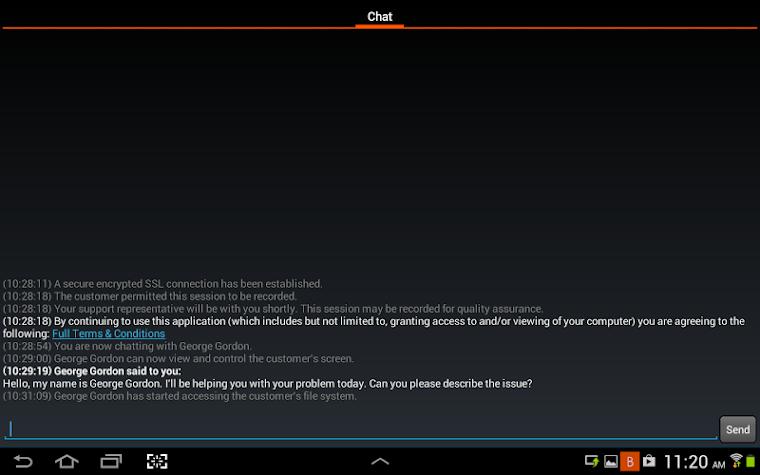 Bomgar for Samsung Screenshot