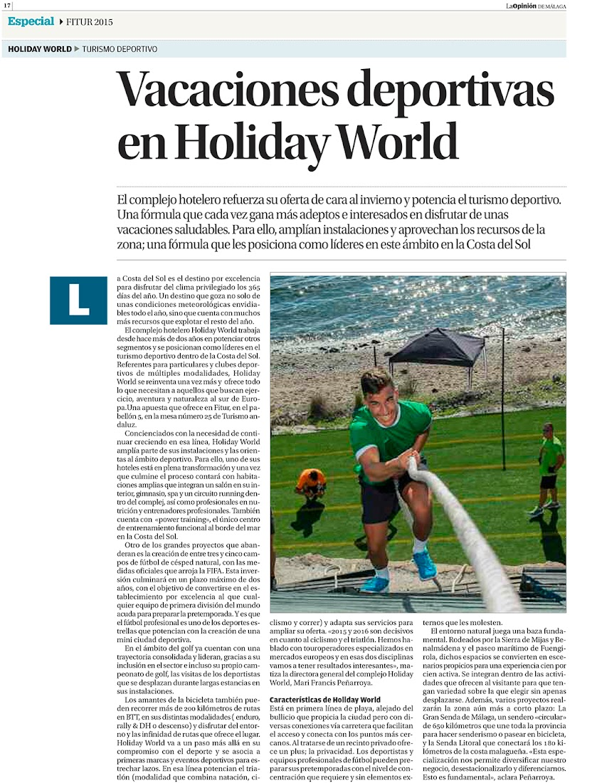 le tourisme sportif dans la Costa del Sol