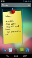 Screenshot of Notes Widget HD Free Stickies