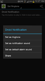 Droid Sound Notification- screenshot thumbnail