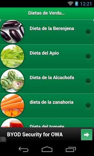 Dietas de Verduras