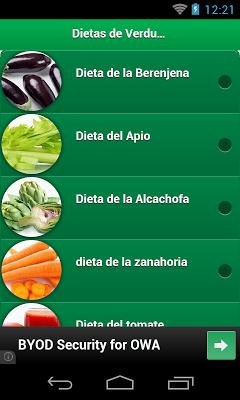 Dietas de Verduras - screenshot