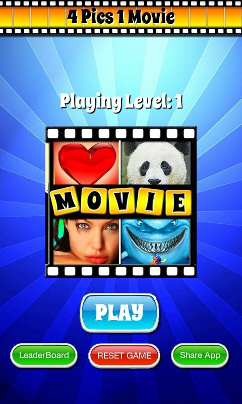 4 Pics 1 MOVIE Guess What Word - screenshot