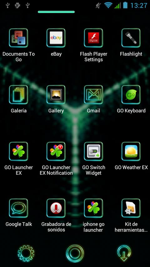 Glow Next Launcher 3D Theme - screenshot