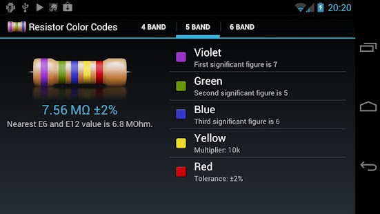 Resistor Color Codes - screenshot thumbnail