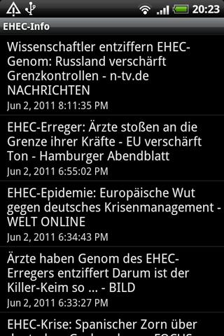 EHEC-Info - screenshot