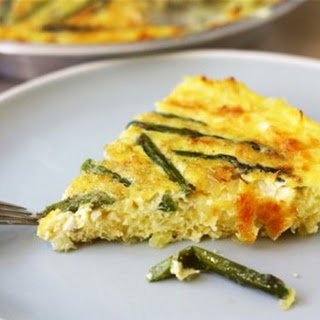 Asparagus Quiche with a Spaghetti Squash Crust