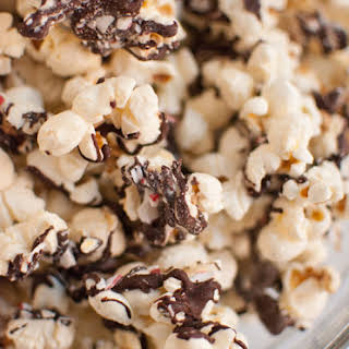 Peppermint Bark Popcorn.