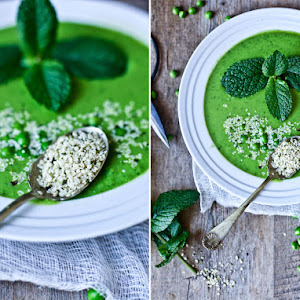 Fresh Peas and Mint Green Gazpacho