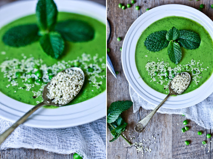 Fresh Peas and Mint Green Gazpacho Recipe