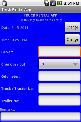 Truck Rental App - screenshot