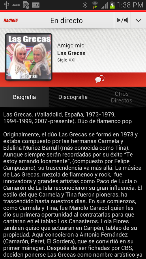 Radiolé for Android - screenshot