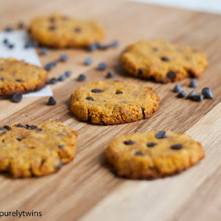 Grain-free Chocolate Chip Pumpkin Coconut Flour Cookies
