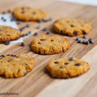 Grain-free Chocolate Chip Pumpkin Coconut Flour Cookies.