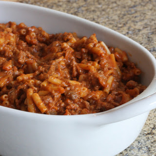 Macaroni and Ground Beef Casserole