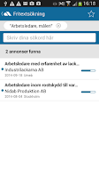 Screenshot of Platsbanken