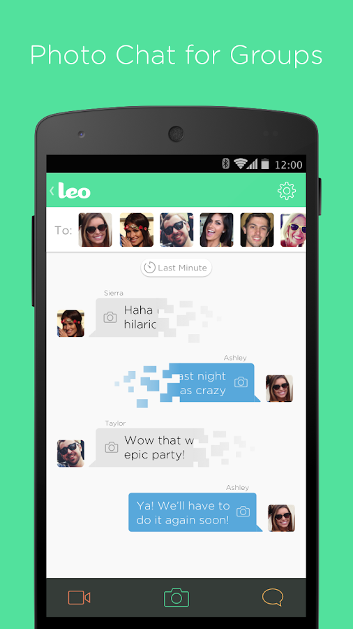 Leo: Photo Chat for Groups - screenshot