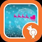 Sparkly Christmas Eve GO SMS icon