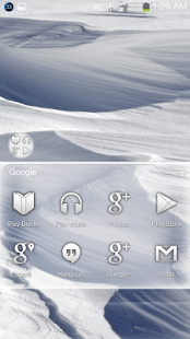 Winter Snow GO Apex Nova Theme - screenshot thumbnail