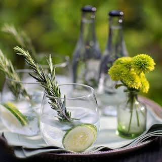 Cucumber-Rosemary Gin and Tonic.