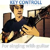 弾き語LIVE ギターのキーコントロール
