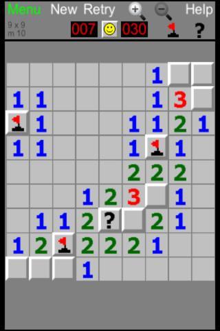 Minesweeper pico- screenshot