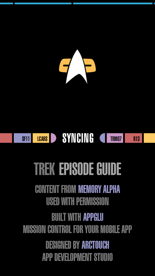 Trek Episode Guide- screenshot