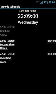 Weekly schedule - screenshot thumbnail