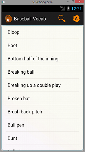 Baseball Vocab