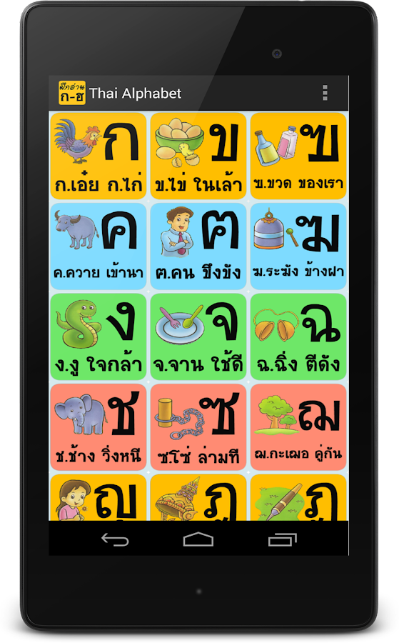 how to write thai alphabet