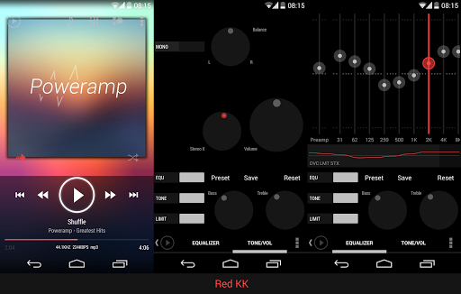 Skin for Poweramp KK Red  screenshots 2