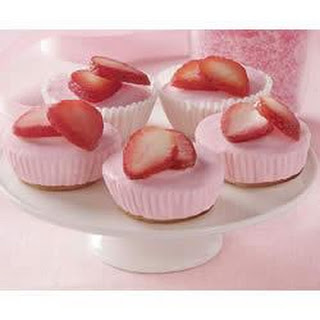 Mini Strawberry Cheesecakes.