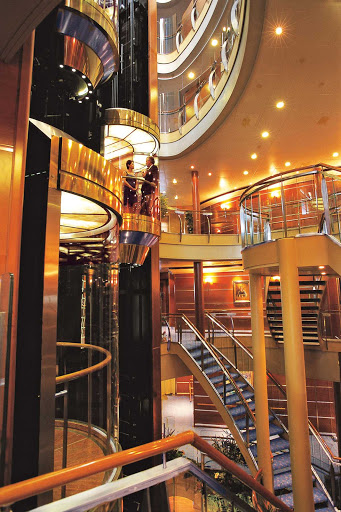 Regent-Seven-Seas-Navigator-Atrium - The abundance of space throughout the ship, including the Atrium here, will impress you during your stay on Seven Seas Navigator.