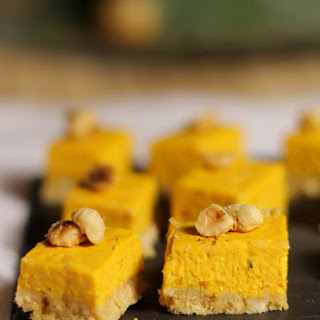 Pumpkin And Hazelnut Cheesecake.