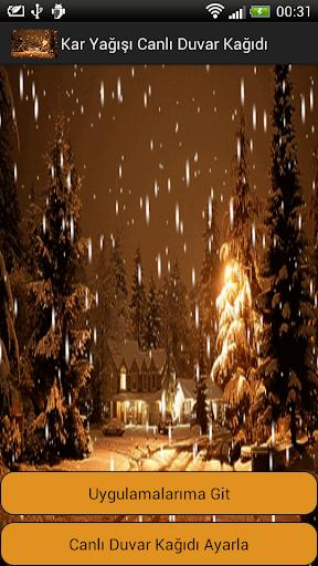 Kar Yağışı Canlı Duvar Kağıdı