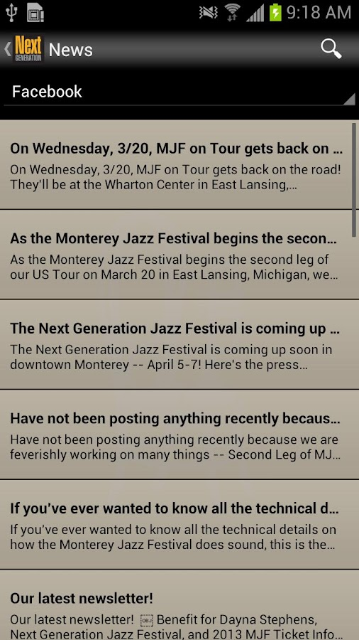 Next Generation Jazz Festival - screenshot